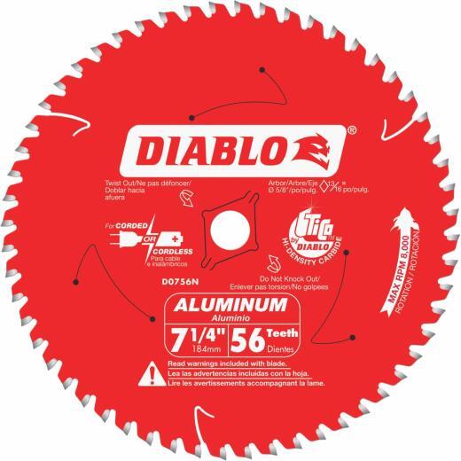 Diablo 7-1/4 In. 56-Tooth Aluminum Circular Saw Blade