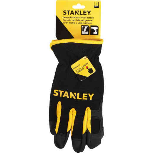Stanley Men's Large Synthetic Fabric Touch Screen High Performance Glove